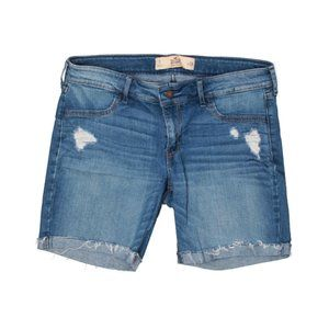 Hollister By Abercrombie Distressed Long Boyshorts